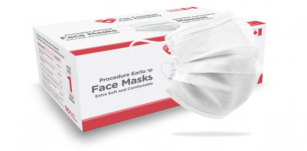 The Canadian Care Company Level 1 box w mask