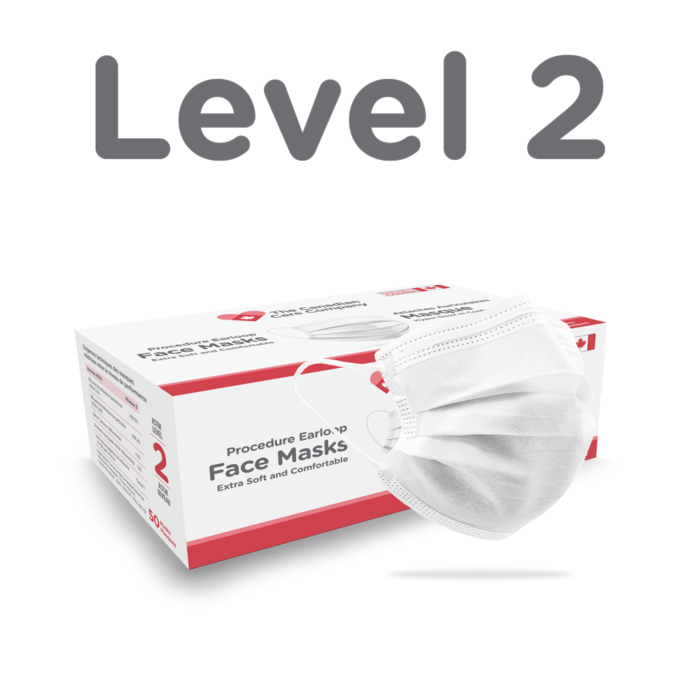 The Canadian Care Company Level 2 box & mask